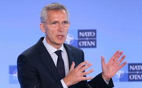 BRUSSELS, BELGIUM - JULY 05: NATO Secretary General, Jens Stoltenberg speaks during a press conference in Brussels, Belgium on July 05, 2019.