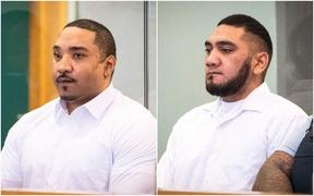 Fisilau Tapaevalu (left) and Mesui Tufui pictured in court during the trial.
