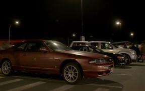 The car community set up a support meet on Friday night.