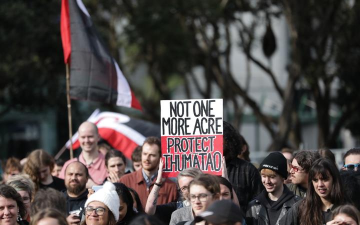 Hundreds around the country are gathering at protests as part of the Ihumātao national day of action.