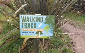 A sign at Tainui Reserve in Havelock North.