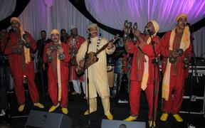 Hamid El Kasri and his band