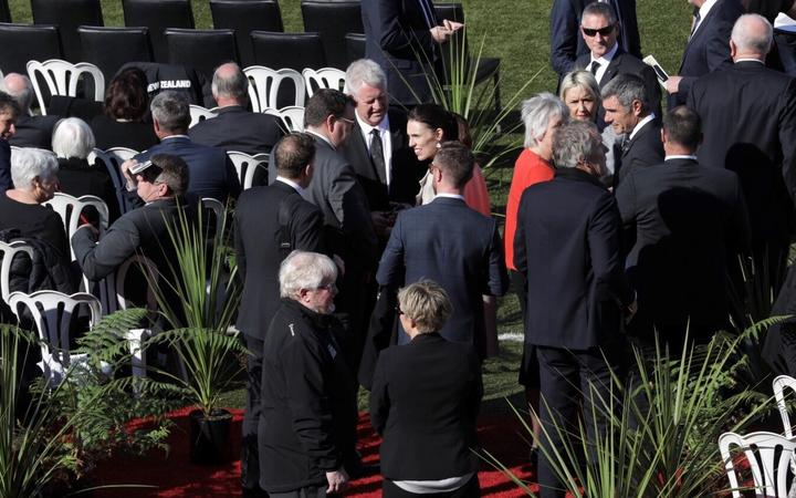 Jacinda Ardern and Sports Minister are attending the funeral of Sir Brian Lochore.