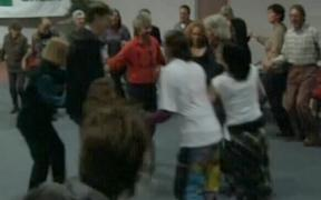 Newshub rolls out the morris dancing footage again - must be a Green party conference on.