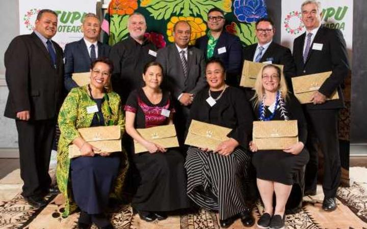 Aupito William Sio (centre) with Tupu Aotearoa providers.