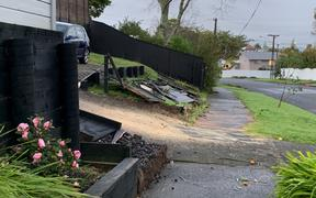 Damage to houses in St Heliers after a storm ripped through the Auckland suburb on Sunday night.