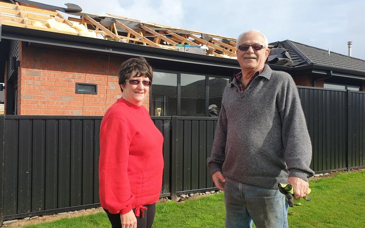 Linda and Wayne Jury had their roof ripped off.