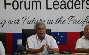 Tuvalu Prime Minister Enele Sopoga is the Chair of the Pacific Islands Forum.