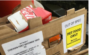 "A woman in Invercargill became concerned on Monday when she discovered a box in a restaurant's recycling labelled ""not fit for human consumption""."