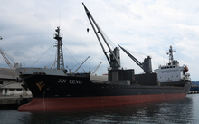 The Jin Teng is one of 31 ships on a sanctions list.