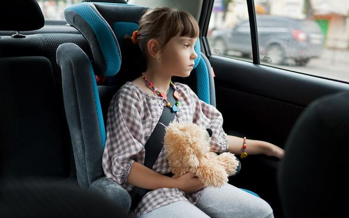 Children should not be left alone in parked cars and should be in an approved child restraint.