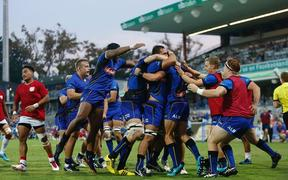The Western Force celebrate a try against Tonga A.