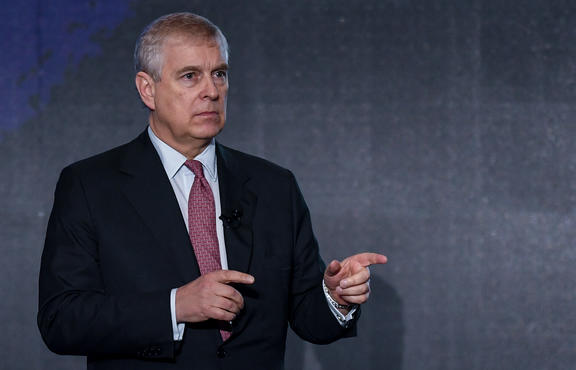 British Prince Andrew, the Duke of York in Shenzhen, south China's Guangdong Province