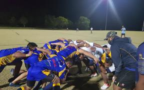 The Nauru Rugby team training in Brisbane ahead of the 2019 Oceania Rugby Cup in Papua New Guinea. August 2019.