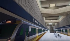 An impression of what the inside of Aotea Station will look like when it is completed in 2022.