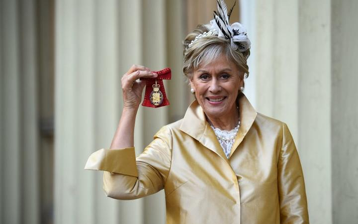 Dame Kiri Te Kanawa after being appointed a member of the Order of the Companions of Honour for services to music, Buckingham Palace December 2018.