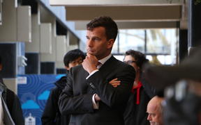 David Seymour at the Hong Kong extradition law rally at Auckland University on 6 August.