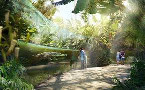 Artist impression - swamp forest habitat