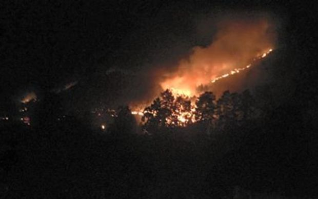 Marble Point Winery owner Sheryl Dennis, who lives about 13km from Hanmer Springs, said she noticed the fire about 4am.