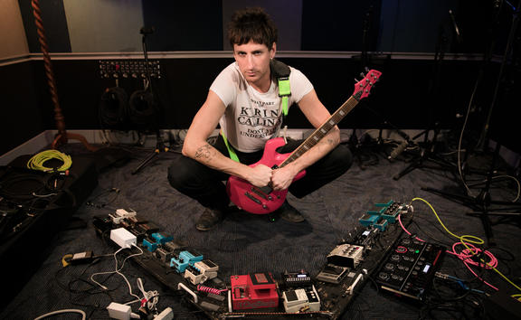 Kirin J Callinan and his pedals