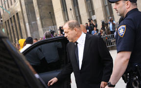 NEW YORK, NEW YORK - AUGUST 26: Harvey Weinstein exits court after an arraignment over a new indictment for sexual assault on August 26, 2019 in New York City.