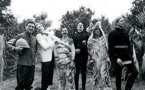 Terry Jones, Terry Gilliam, Michael Palin, John Cleese, Eric Idle and Graham Chapman are Monty Python
