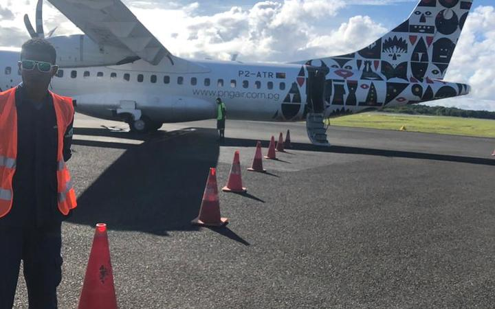 The plane used to transport the refugees to PNG.