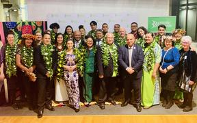 Prime Ministers Pacific Youth Awards winners with Minister of Pacific People's Aupito Su'a William Sio