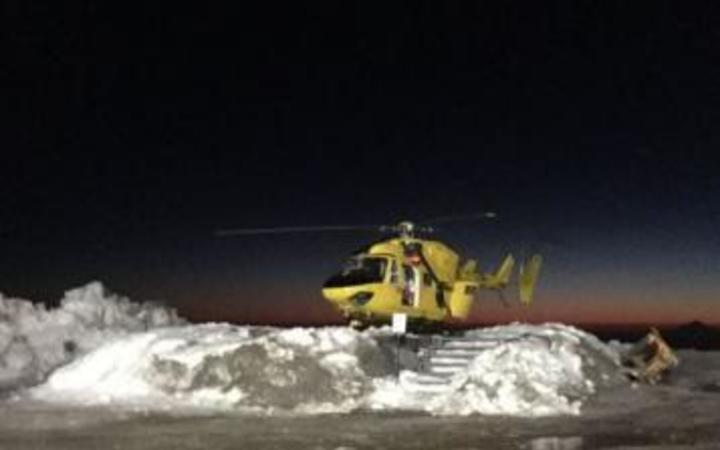 Man in critical condition after skiing accident