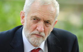 Britain's opposition Labour Party leader Jeremy Corbyn is seen in central London on May 22, 2019.