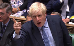 Prime Minister Boris Johnson speaking during his first Prime Ministers Questions session in the House of Commons in London on September 4, 2019.