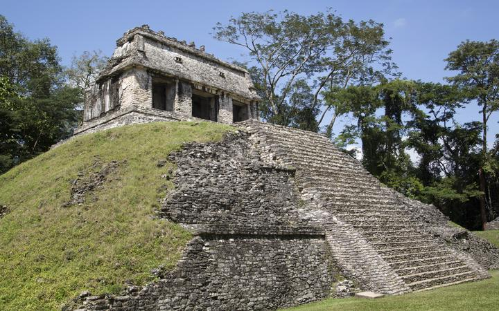 Temple of the Count, Palenque Archaeological Park, Mexico.