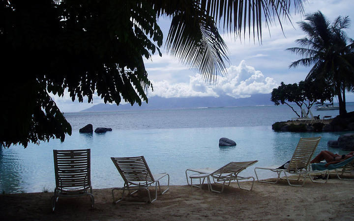 240414. Photo RNZ. Tahiti beach, French Polynesia, Faa'a, Parkroyal, Intercontinental Hotel, Moorea