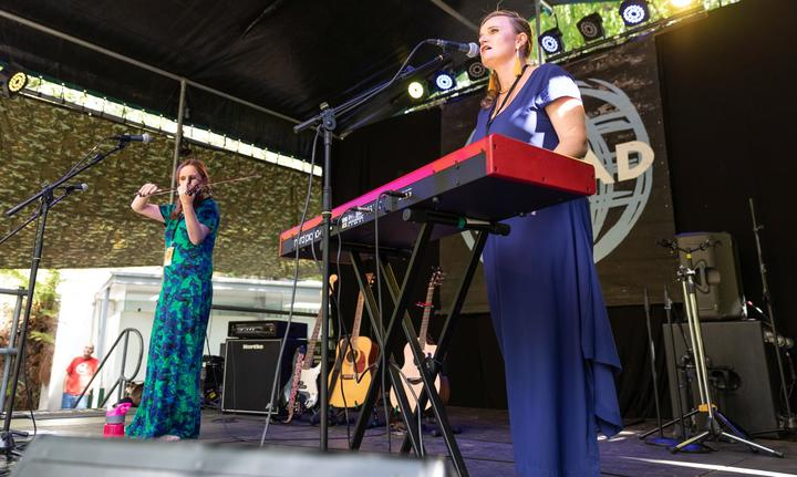 Emily Upston & Charlotte Johansen at WOMAD 2019