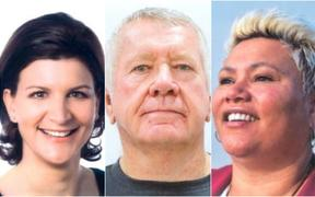 Gisborne mayor candidates - Rehette Stolz, Ross Meurant and Meredith Akuhata-Brown