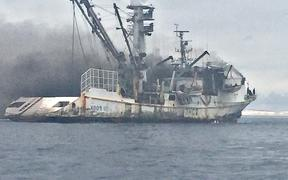 The Marshall Islands-flagged Koo's 102 purse seine fishing vessel caught fire in Majuro lagoon on Sunday