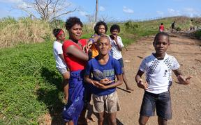 Local youths get back to fun and games on Taveuni Island Fiji after Cyclone Winston