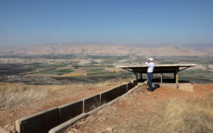 An old army outpost overlooking the Jordan Valley between the Israeli city of Beit Shean and the West Bank city of Jericho.