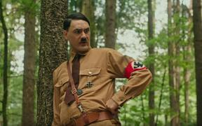 Taika Waititi as Adolf Hitler in his new film Jojo Rabbit.