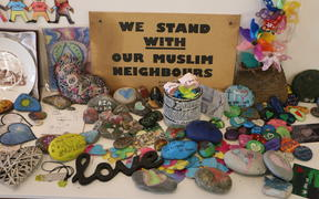 'Tributes of Aroha,' featuring messages of support following the Christchurch terror attacks.