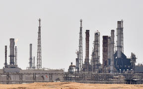 An Aramco oil facility near al-Khurj area, just south of the Saudi capital Riyadh. Saudi Arabia has raced to restart operations at oil plants hit by drone attacks