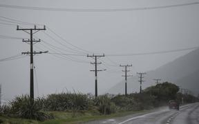 Some powerlines north of Granity were damaged in former cyclone Fehi, power companiy is concerned they may come down during former cyclone Gita causing power outage north of Granity and would pose a risk to life, warned to stay clear.