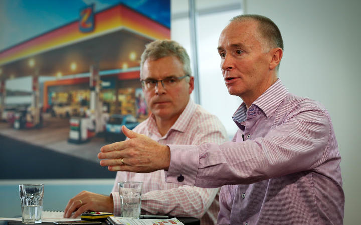 Z Energy CEO, Mike Bennetts and Chris Day, Chief Financial Officer.