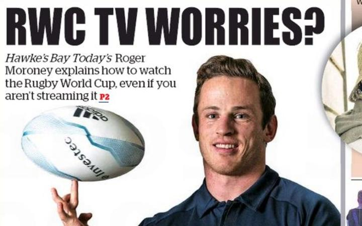 Hawkes Bay Today puts its rugby streaming fears on the front page.
