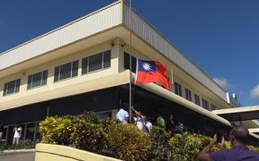 The lowering of the Taiwan flag in Honiara