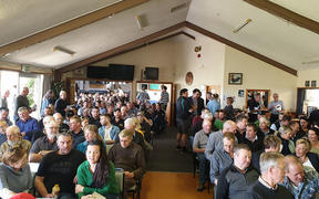 Over 250 South Canterbury farmers met with government officials to vent their frustrations over the new freshwater policy.