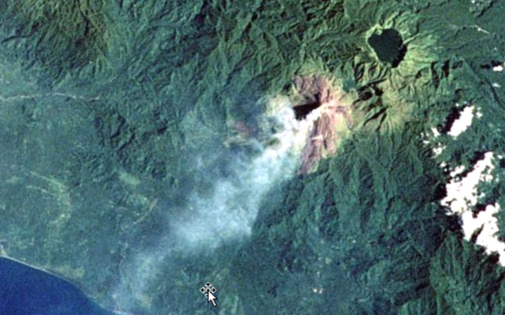 The 1700m Bagana volcano in Papua New Guinea.