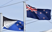 New Zealand flag and Silver Fern flag