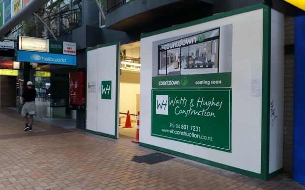 Construction of a new Countdown store on Lambton Quay, Wellington.