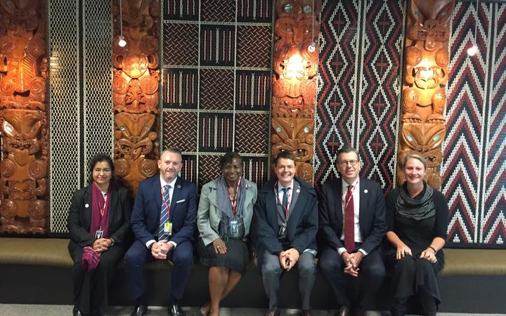 Dr Natalia Kanem (third from left) during her visit to the New Zealand Parliament.